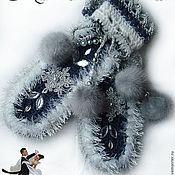 """Аксессуары ручной работы. Ярмарка Мастеров - ручная работа Варежки """"Снежный вальс"""". Handmade."""