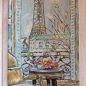 """Картины ручной работы. Ярмарка Мастеров - ручная работа Картина """"Окно в Париж"""". Handmade."""