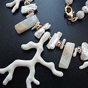 Украшения ручной работы. Ярмарка Мастеров - ручная работа Колье с кораллами. Handmade.