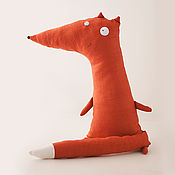 Мягкие игрушки ручной работы. Ярмарка Мастеров - ручная работа Льняная мягкая игрушка Лисичка. Handmade.