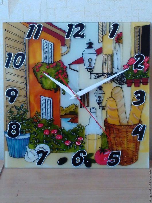 Часы для дома ручной работы. Ярмарка Мастеров - ручная работа. Купить часы настенные У открытого окна. Handmade. Комбинированный