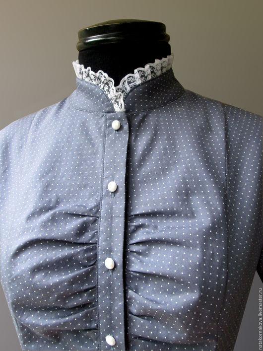 Блузки ручной работы. Ярмарка Мастеров - ручная работа. Купить Блуза с кружевом. Handmade. Серый, блузка летняя, блузка для девочки