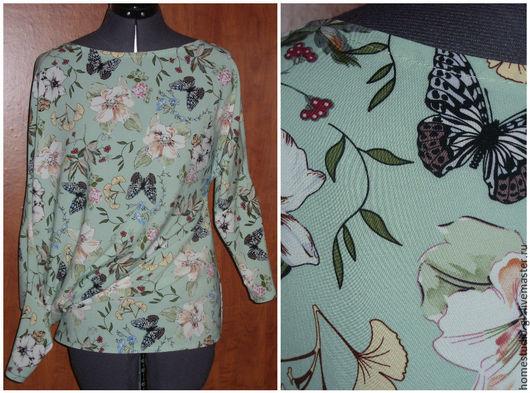 Блузки ручной работы. Ярмарка Мастеров - ручная работа. Купить Блузка-туника асимметричного кроя. Handmade. Комбинированный, блузка нарядная