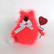 Куклы и игрушки ручной работы. Ярмарка Мастеров - ручная работа Кот Валентин (Вязаный кот, игрушка, подарок). Handmade.