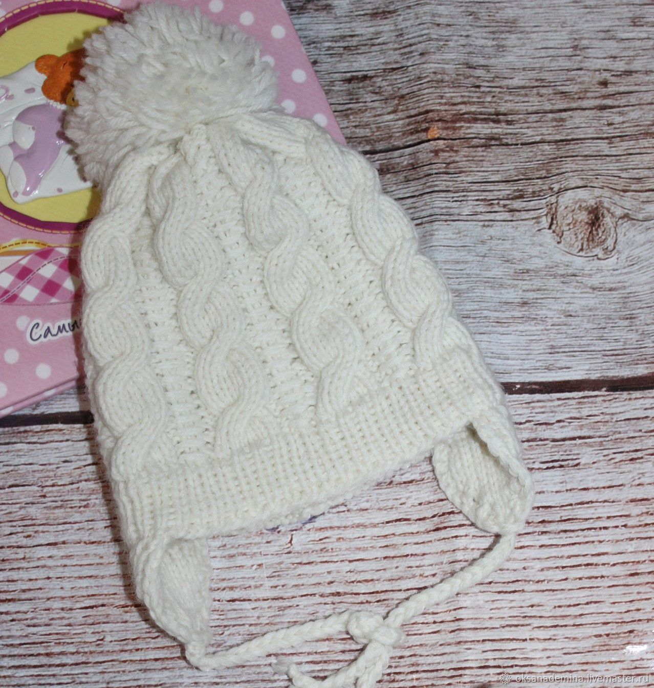 knitted beanie for a newborn, Baby hat, Stupino,  Фото №1