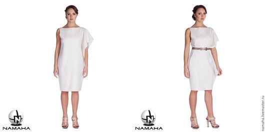 Платья ручной работы. Ярмарка Мастеров - ручная работа. Купить Платье Нежность белое деловое. Handmade. платье на осень платье