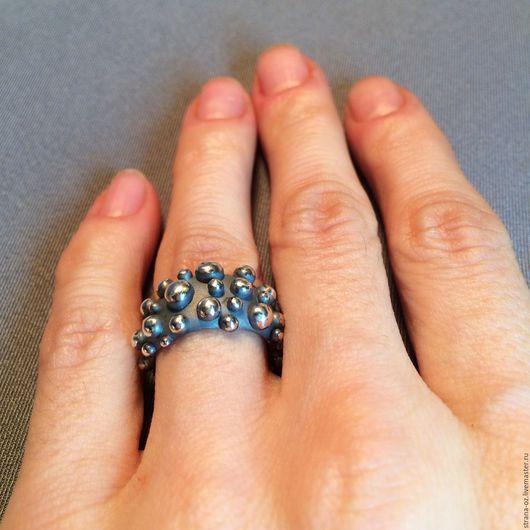 """Кольца ручной работы. Ярмарка Мастеров - ручная работа. Купить Кольцо из серебра """"Царевна-лягушка"""". Handmade. Необычное кольцо"""