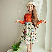 """Работы для детей, ручной работы. Ярмарка Мастеров - ручная работа Платье """"Juicy Orange"""". Handmade."""