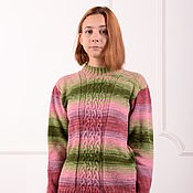 Одежда handmade. Livemaster - original item Women`s sweater - rose. Handmade.
