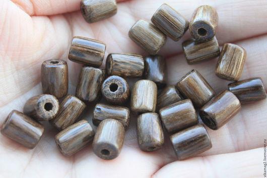 Для украшений ручной работы. Ярмарка Мастеров - ручная работа. Купить Дуб мореный, бусины цилиндры, 10 мм. Handmade.