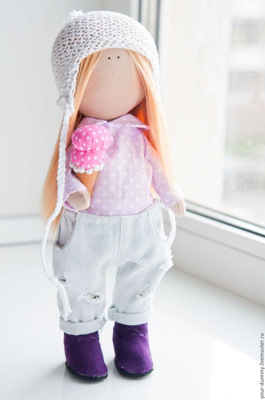 Коллекционные куклы ручной работы. Ярмарка Мастеров - ручная работа. Купить малышка Женя. Handmade. Фиолетовый, подарок на день рождения