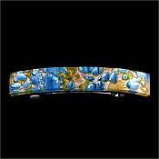 """Винтаж ручной работы. Ярмарка Мастеров - ручная работа Винтажная заколка """"Голубое золото"""". Handmade."""