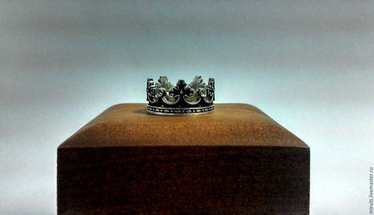 Кольца ручной работы. Ярмарка Мастеров - ручная работа. Купить Кольцо Корона. Handmade. Комбинированный, серебряные украшения, серебро