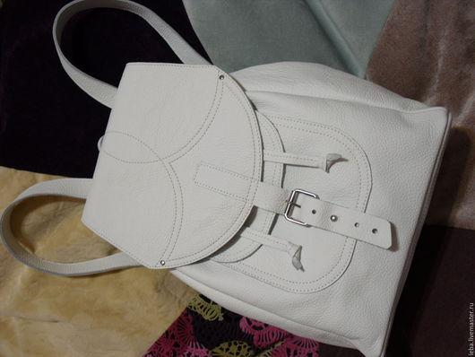 Рюкзаки ручной работы. Ярмарка Мастеров - ручная работа. Купить Рюкзак. Handmade. Белый, на новый год, воск