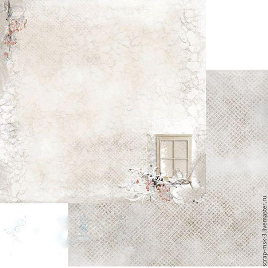 Открытки и скрапбукинг ручной работы. Ярмарка Мастеров - ручная работа. Купить Бумага для скрапбукинга Зимний домик 3001 Fleur Design. Handmade.