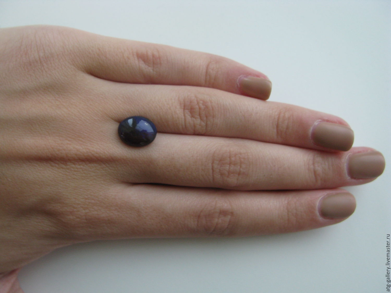 Кристаллический черный опал! Основные цвета опалесценции: синий и зеленый.  Сделаю украшение для Вас!