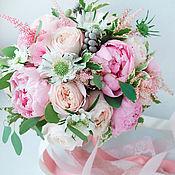 Свадебный салон ручной работы. Ярмарка Мастеров - ручная работа Свадебный букет невесты из живых цветов Мечта. Handmade.