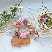 """Куклы и игрушки handmade. Livemaster - original item Грызунок-прорезыватель """"Sweet and tender"""". Handmade."""