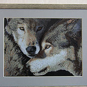 Картины и панно handmade. Livemaster - original item Embroidered painting
