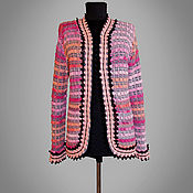 Одежда handmade. Livemaster - original item Tweed jacket Antonella. Handmade women tweed crochet jacket. Handmade.