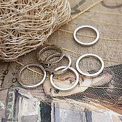 Материалы для творчества handmade. Livemaster - original item 1 PCs. Connector ring 10x1 mm rhodium (3504). Handmade.