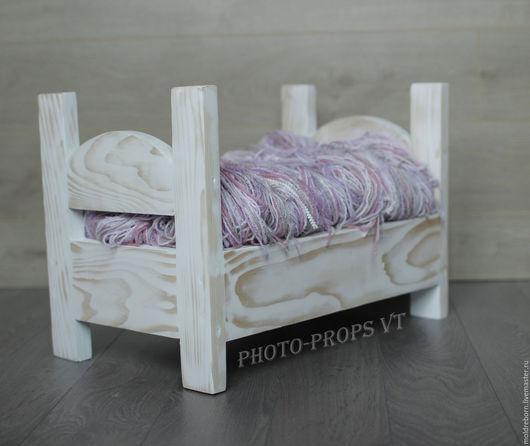 Аксессуары для фотосессий ручной работы. Ярмарка Мастеров - ручная работа. Купить Кроватка для Фотосессии младенцев. Handmade. Белый, купить кровать