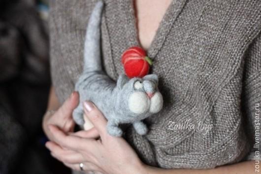 Игрушки животные, ручной работы. Ярмарка Мастеров - ручная работа. Купить Серый котик.. Handmade. Серый, котики, кот в подарок
