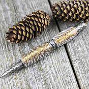 handmade. Livemaster - original item Dragon ballpoint pen with a body made of fir cones in resin. Handmade.