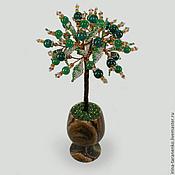Цветы и флористика handmade. Livemaster - original item The tree of jade in a vase of onyx