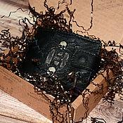 Сумки и аксессуары handmade. Livemaster - original item 13 - leather Wallets - Men`s gift - Skull. Handmade.