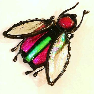 Украшения ручной работы. Ярмарка Мастеров - ручная работа Малиновый майский жук. Handmade.