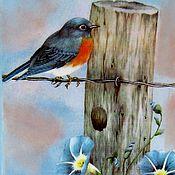 """Для дома и интерьера ручной работы. Ярмарка Мастеров - ручная работа Ключница """"О чем мечтают птицы"""". Handmade."""