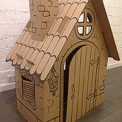 Элементы интерьера ручной работы. Ярмарка Мастеров - ручная работа Картонный домик для игр. Handmade.