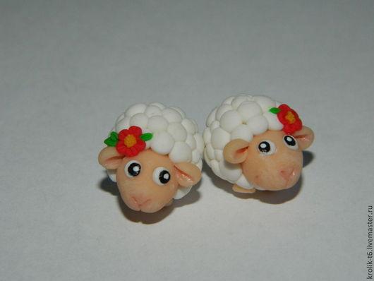 Серьги ручной работы. Ярмарка Мастеров - ручная работа. Купить Овечки. Handmade. Барашек, овечка, серьги, новогоднее украшение