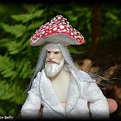 Куклы и игрушки handmade. Livemaster - original item Jointed doll: Gnome Grandfather Mushroom Fly Agaric. Handmade.