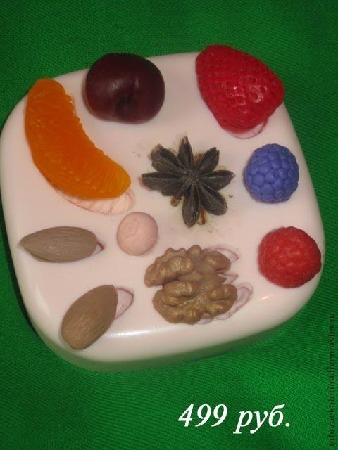 Другие виды рукоделия ручной работы. Ярмарка Мастеров - ручная работа. Купить силиконовая формочка ассорти фрукты. Handmade. Розовый