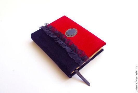 Блокноты ручной работы. Ярмарка Мастеров - ручная работа. Купить Бархат. Блокнот А6 ручной работы. Handmade. Красный, блокнот