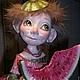 """Коллекционные куклы ручной работы. кукла """"Вкусняшка"""". Маргарита Дроздова. Интернет-магазин Ярмарка Мастеров. Авторская кукла, акварель"""