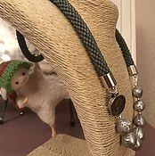 """Украшения ручной работы. Ярмарка Мастеров - ручная работа Бисерный жгут """"Серый Kasumi"""". Handmade."""