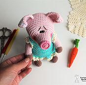 Мягкие игрушки ручной работы. Ярмарка Мастеров - ручная работа Вязаная Свинка. Handmade.