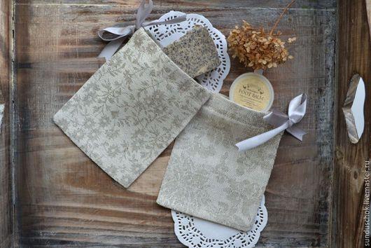 Упаковка ручной работы. Ярмарка Мастеров - ручная работа. Купить Льняные мешочки для чая, кофе, лекарственных трав. Handmade.
