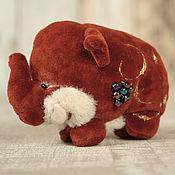 Куклы и игрушки ручной работы. Ярмарка Мастеров - ручная работа Плюшевый мини слоник От Карамелькис. Handmade.