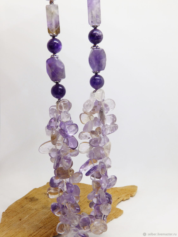 Lavender garden beads 42 cm (amethyst, citrine, amethyst), Beads2, Gatchina,  Фото №1