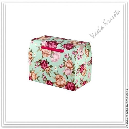 """Упаковка ручной работы. Ярмарка Мастеров - ручная работа. Купить (Временно нет) Коробка-сумочка """"Цветочная"""" 14х11х9 см. Handmade."""