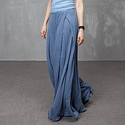 Одежда handmade. Livemaster - original item P_019 P_005 culottes, wide top, jeans color. Handmade.