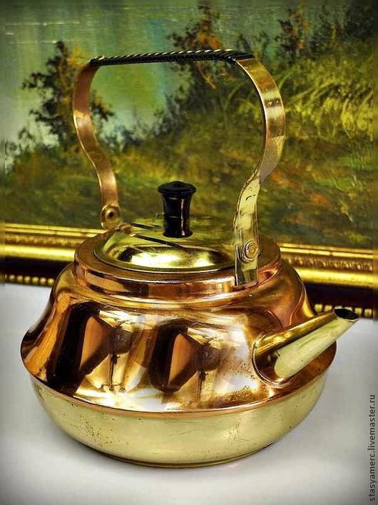 Винтажные предметы интерьера. Ярмарка Мастеров - ручная работа. Купить Чайник медь латунь заварочный. Handmade. Чайник, кухонная утварь