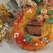 Для дома и интерьера handmade. Livemaster - original item Interior elements: Autumn wreath, decoration for table, door, window display. Handmade.