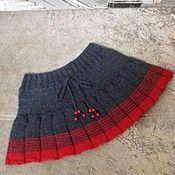 """Одежда ручной работы. Ярмарка Мастеров - ручная работа Вязаная юбочка для девочки """"Рябинка"""". Handmade."""