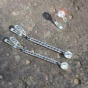 Украшения handmade. Livemaster - original item Jewelry set Modern 4 with cubic zirconia made of 925 DD0109 silver. Handmade.