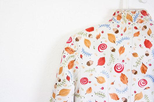 Роспись кожаной куртки `Лесные белочки`. Роспись по коже. Диана Чентукова. Diana Chentukova